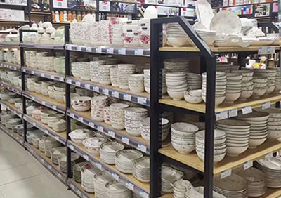 超市钢木展架