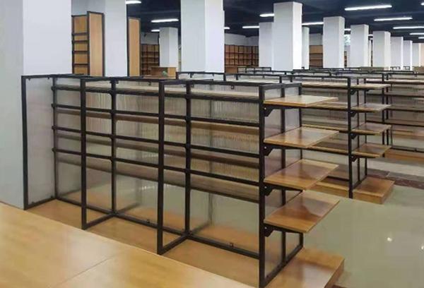 钢木图书馆货架