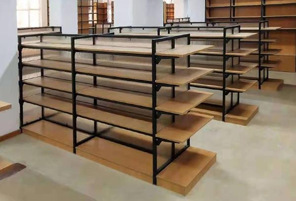 钢木面包店货架